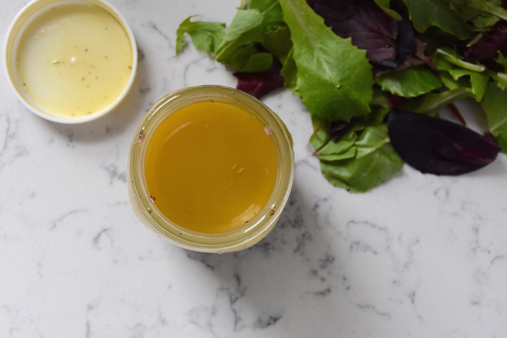 This recipe is for a big batch of Basic Salad Vinaigrette! | uprootkitchen.com