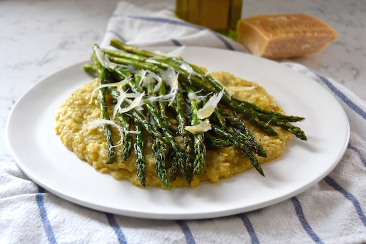 This simple dish of Roasted Asparagus with Parmesan is a great way to highlight spring veggies | uprootkitchen.com