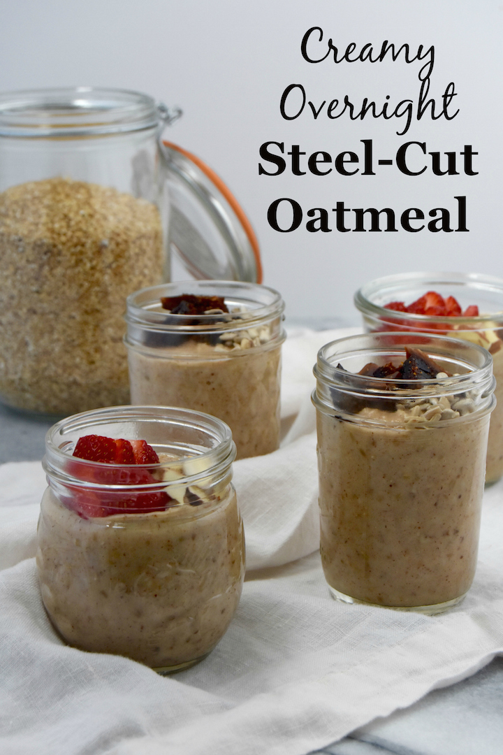 Creamy Overnight Steel-Cut Oatmeal is a hearty breakfast you can prep for the week with just 2 ingredients and 4 optional mix-ins! | uprootkitchen.com