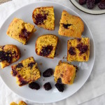 This Blackberry Thyme Cornbread is the perfect summer side dish for barbecues, picnics, and dinners on the patio. | uprootkitchen.com