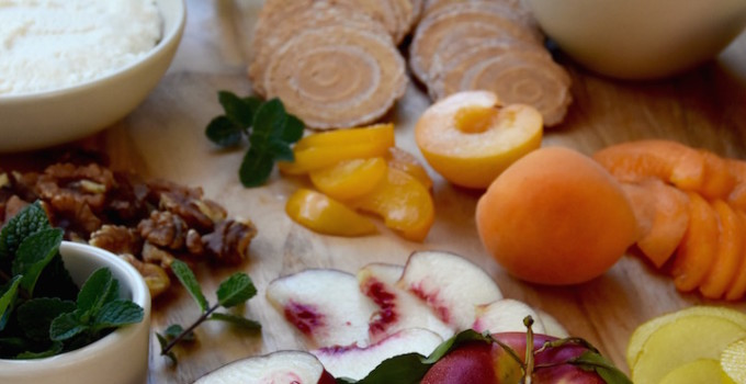 Stone Fruit and Ricotta Picnic Plate