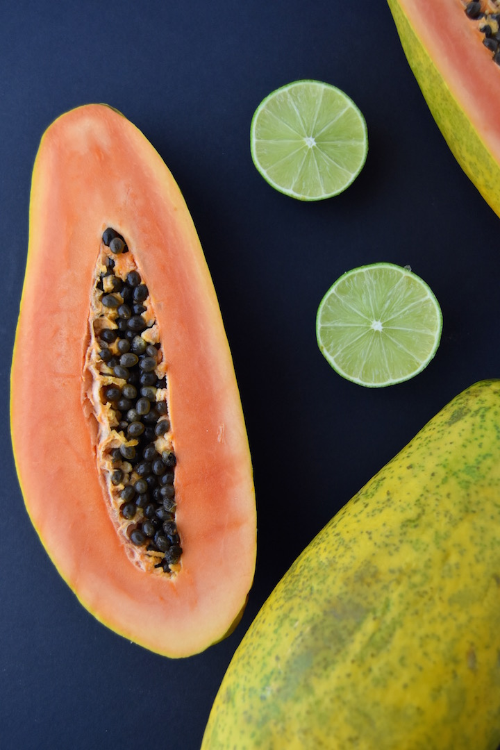 Fresh papaya and lime | uprootkitchen.com