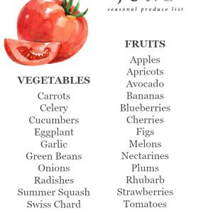 June Seasonal Produce List | uprootkitchen.com