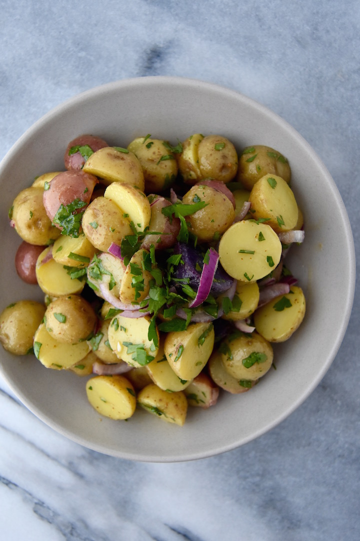Potato Salad with a Mustard Dressing | uprootkitchen.com
