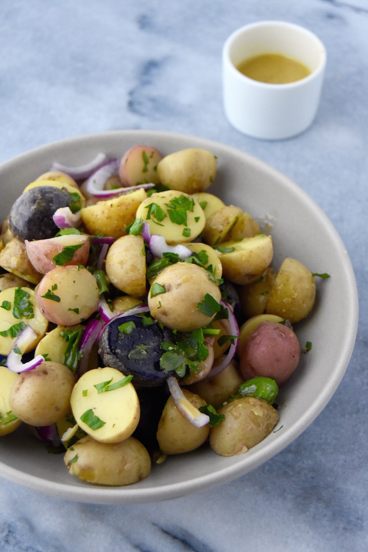 Simple and Hearty Potato Salad with a Mustard Dressing | uprootkitchen.com
