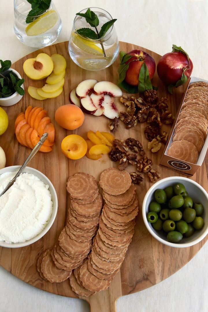 Stone Fruit and Ricotta Picnic Plate | uprootkitchen.com