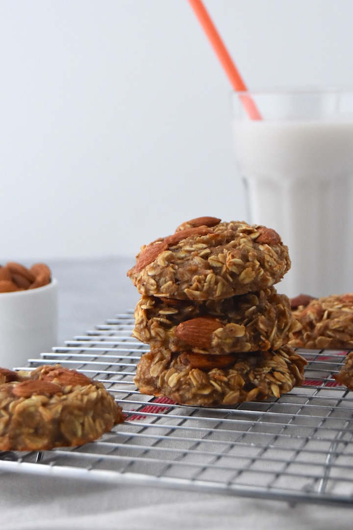 These 3 Ingredient Banana Oat Cookies taste like banana bread. They are perfect for a wholesome snack to power you through the afternoon or satisfy your sweet tooth. | uprootkitchen.com