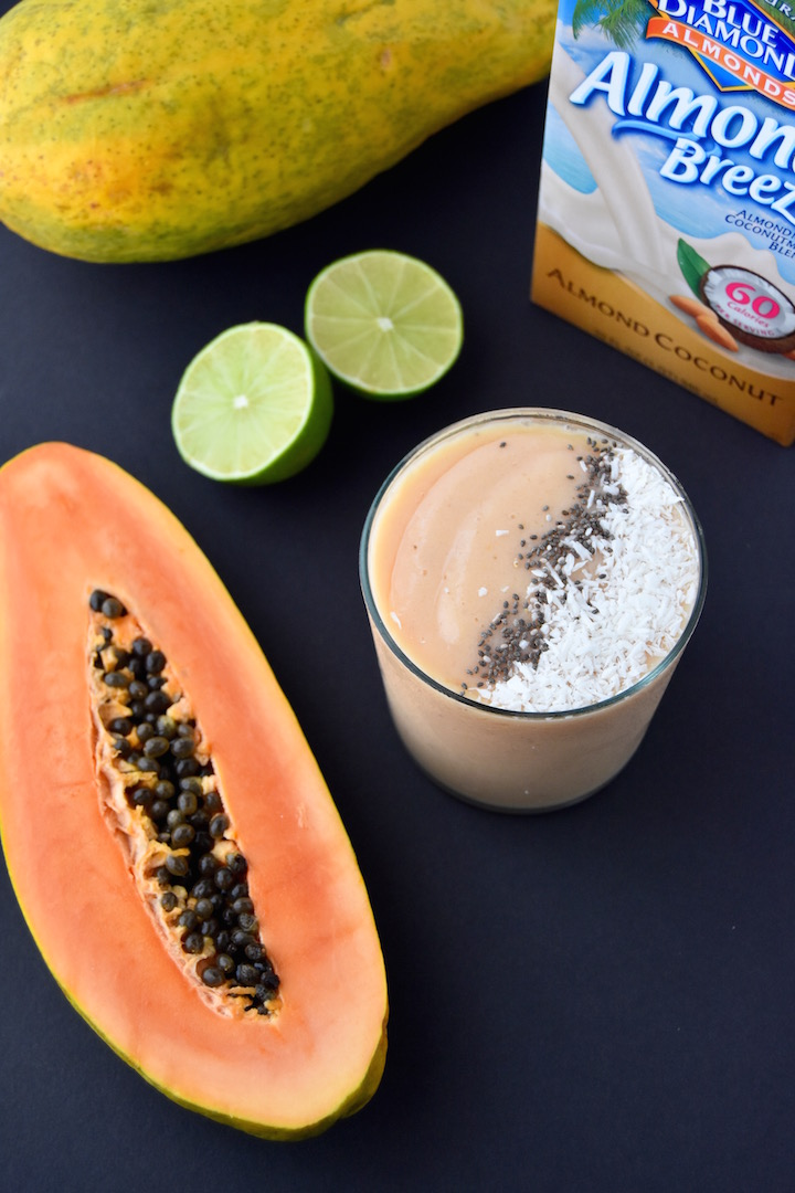 Tropical Papaya Smoothie | uprootkitchen.com