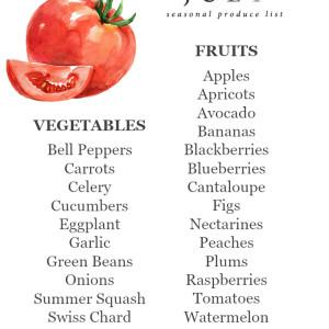 July Seasonal Produce List | uprootkitchen.com