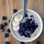 Quinoa Porridge with Blueberry Compote