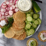 Whipped Dill Cream Cheese Snack Plate
