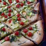 Summer Flatbread with Zucchini and Tomatoes