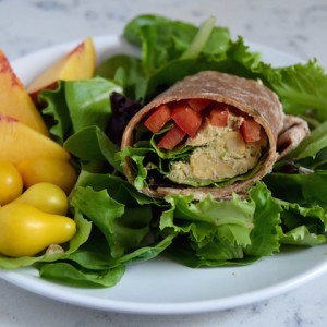 A simple recipe for Chickpea Tuna Salad, made with mashed avocado or mayo depending on your preference.