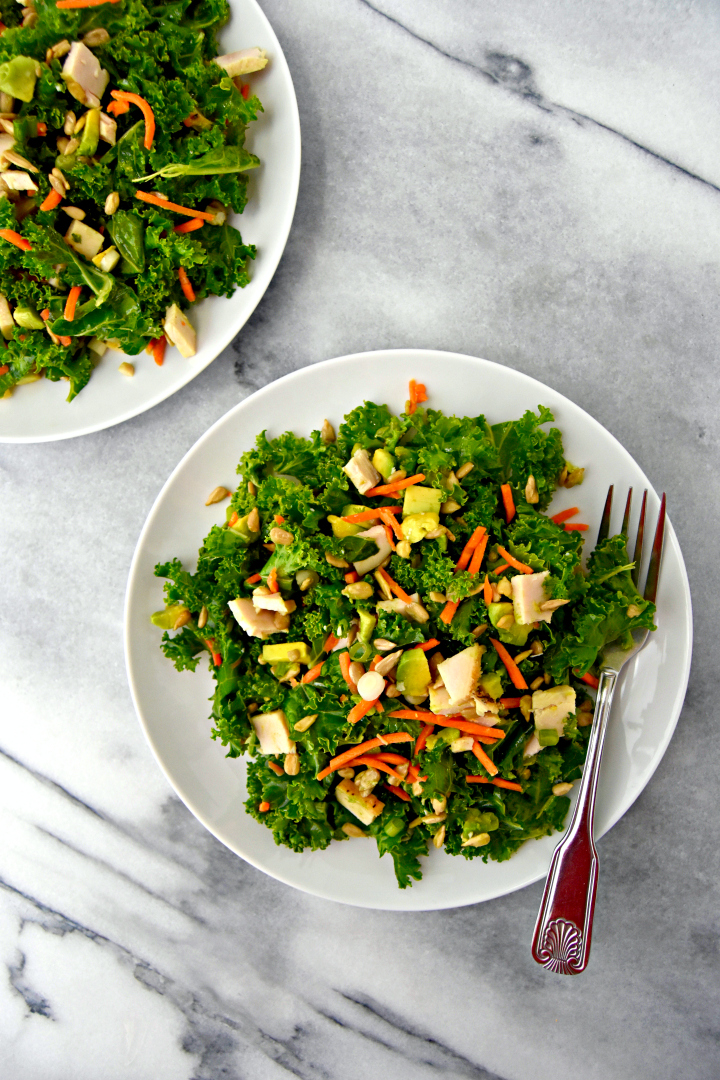 Quick and easy chopped kale salad