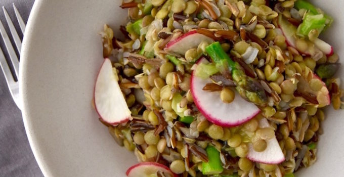 Spring Lentil and Wild Rice Salad
