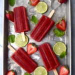 Strawberry Mint Limeade Popsicles