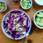 Simple Zesty Cabbage Slaw for a taco bar