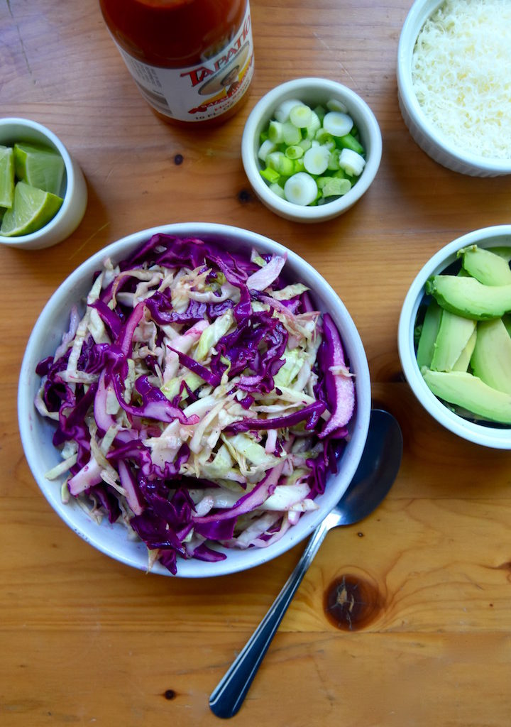 Simple Zesty Cabbage Slaw