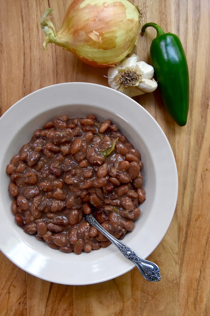 Spicy Pinto Beans from Scratch