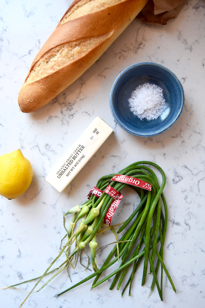 How to cook with garlic scapes - garlic scape butter