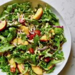 Summer Arugula Salad with Peaches and Corn