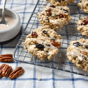 Raisin Pecan Oat Scones