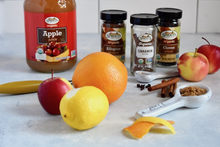 Ingredients for Slow Cooker Mulled Apple Cider | uprootkitchen.com