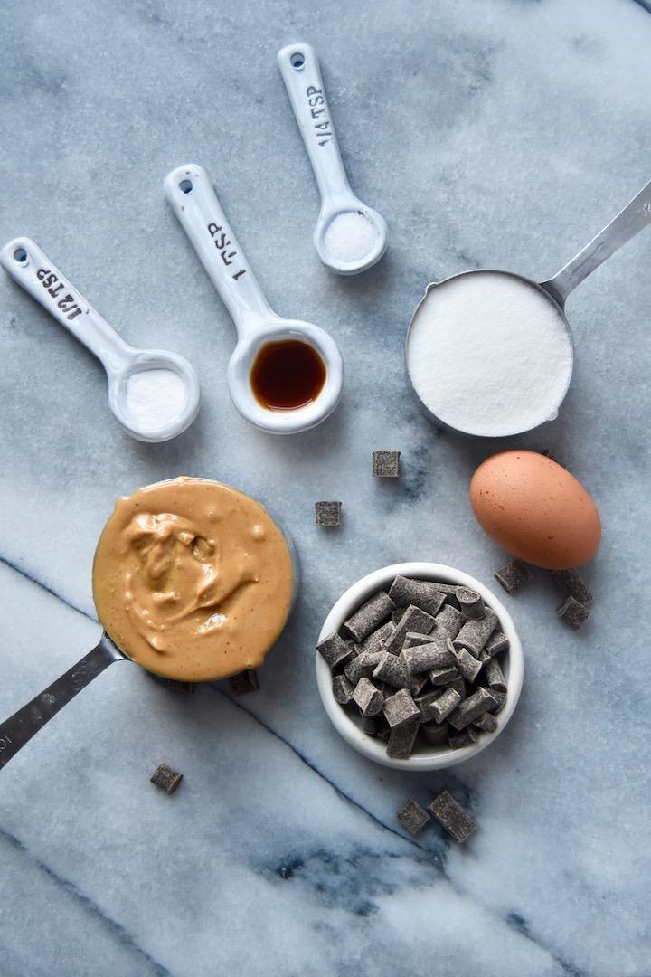 Nut Butter Cookie Bars Ingredients | uprootkitchen.com